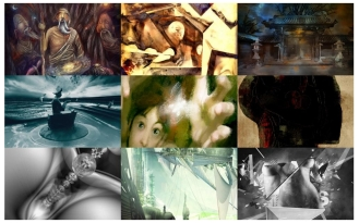 February 2011 Fine Art Exhibition, featuring: Keit, Corinna Wagner, Thomas Teamoh, Desirée Glanville, Andrzej Szczerski, Mostafa Nassar, Micael Katzman, Cali Rezo, Sorin Bechira